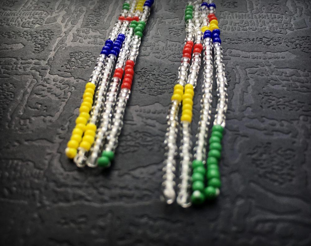 бижутерия сережки длинные купить