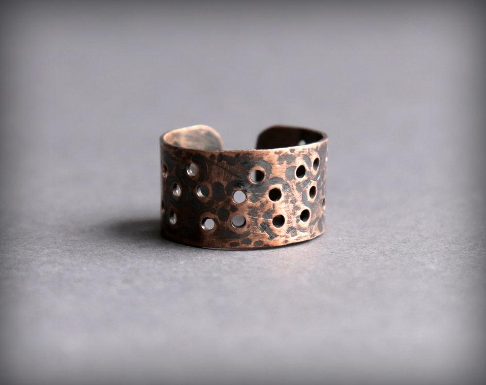 купить Оригинальное медное кольцо ручной работы