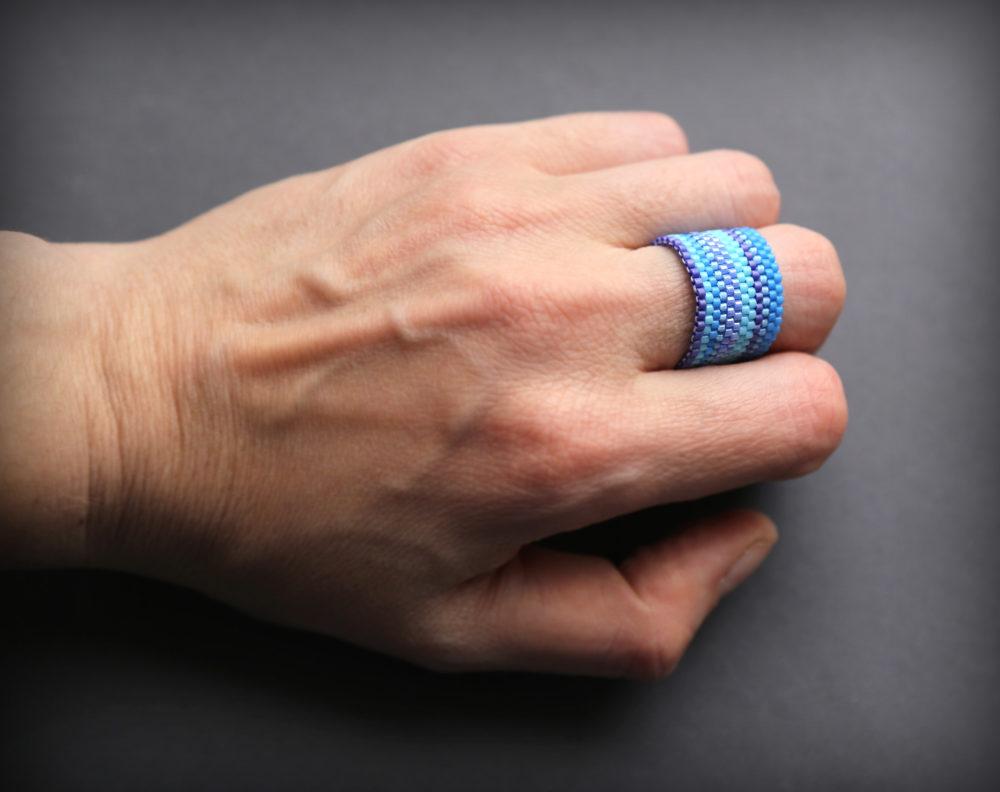 кольцо широкое женское