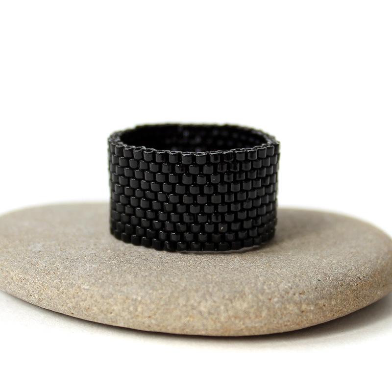 бижутерия кольцо черное готическое