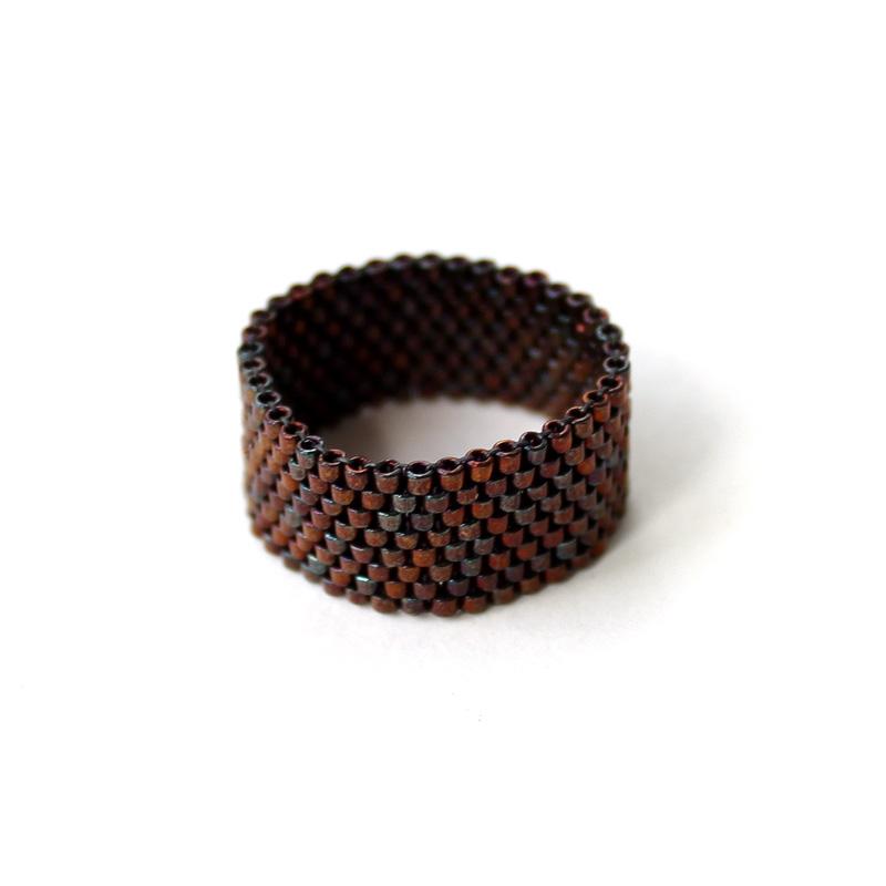 Широкое кольцо в стиле минимализм