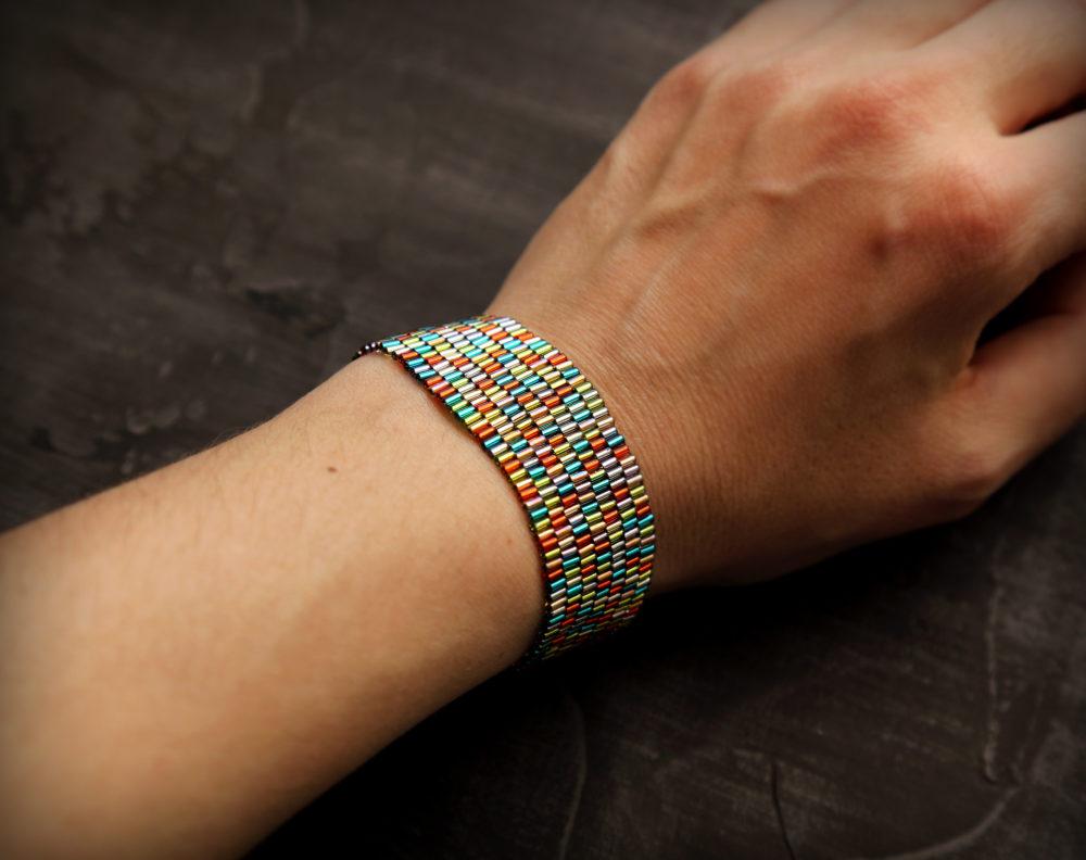 купить широкий женский браслет бижутерия