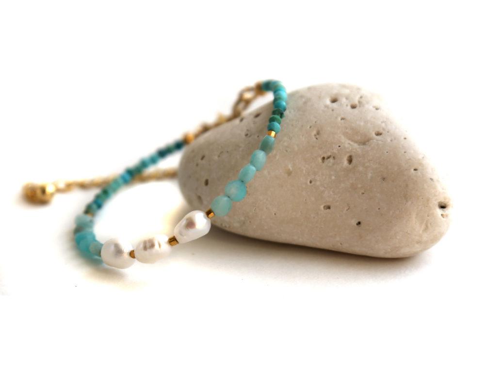 амазонит браслет женский