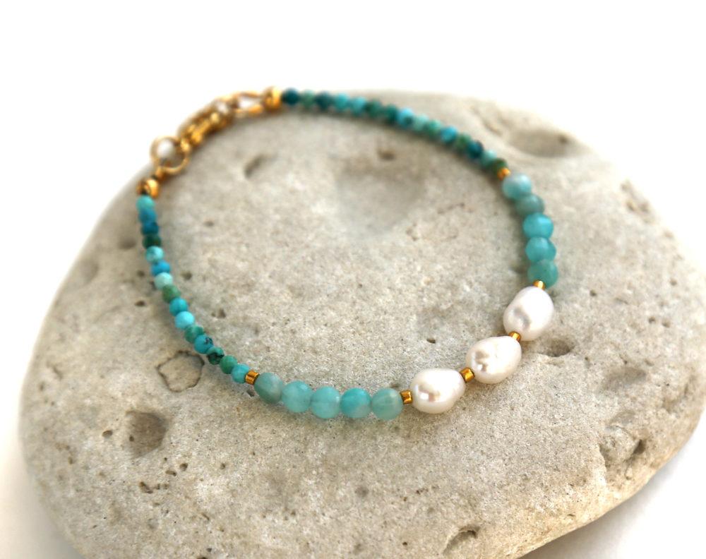 браслет из натуральной голубой бирюзы