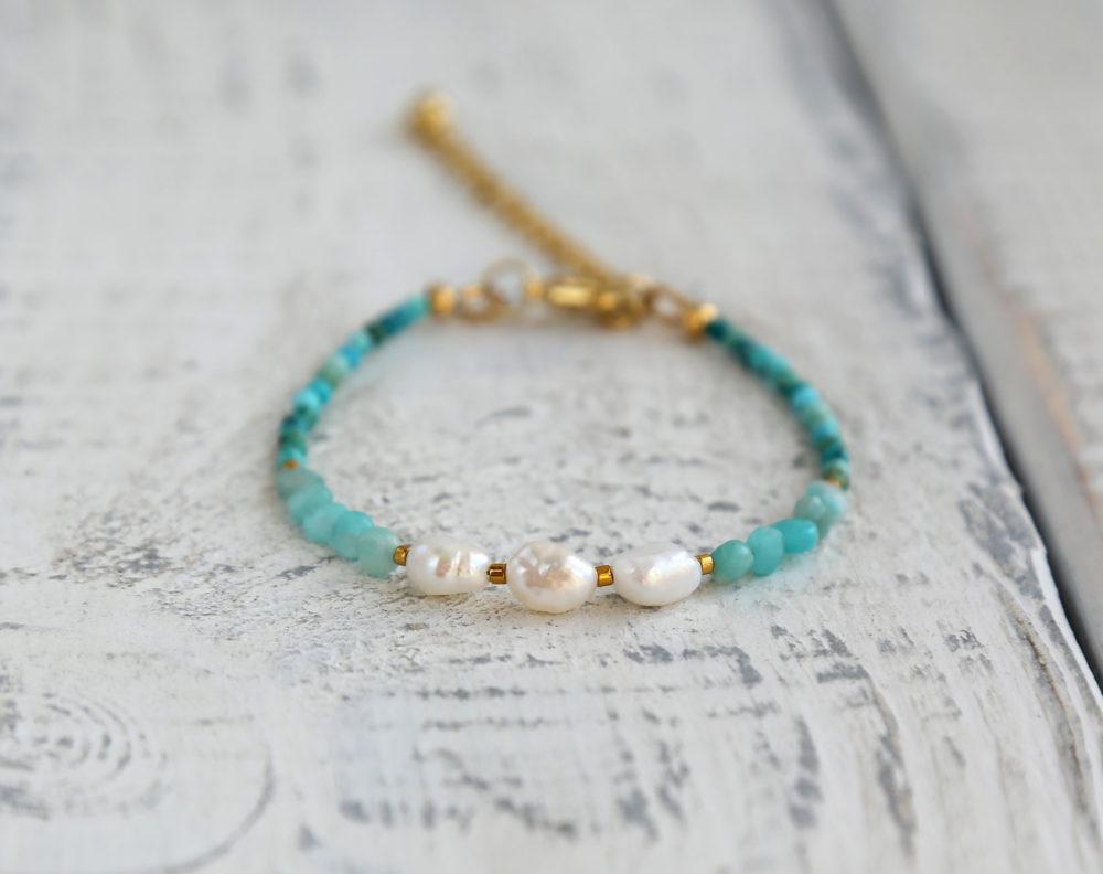 модный браслеты жемчуг с камнями