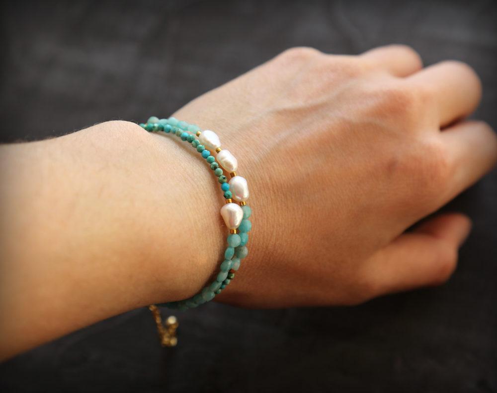 браслеты женские с бирюзой