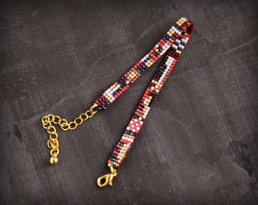 узкие браслеты из бисера купить